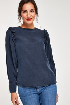 Frill Shoulder Detail TENCEL™ Top