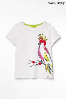 White Stuff White Kids Party Parrot Jersey T-Shirt
