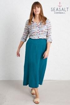 Seasalt Blue Landscape Artist Skirt
