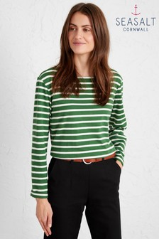 Seasalt Green Sailor Long Sleeve T-Shirt