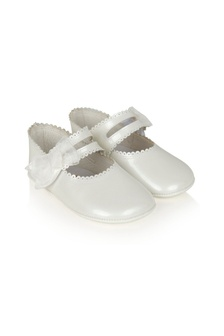 Andanines Baby Girls White Leather Shoes