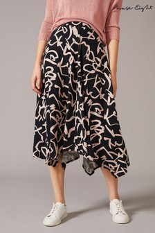 Phase Eight Blue Ayumi Print Skirt