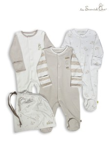 The Essential One Baby Unisex Neutral Sleepsuits Three Pack