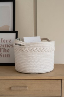 Plaited Fabric Storage Basket