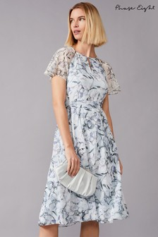 Phase Eight Mineral Marlene Patched Floral Printed Dress