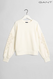 GANT White Desert Jewel Embroidery Sweatshirt