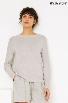 White Stuff Grey Outline Organic Cotton Jumper