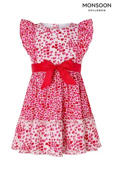 Monsoon Red Baby Aria Heart Dress