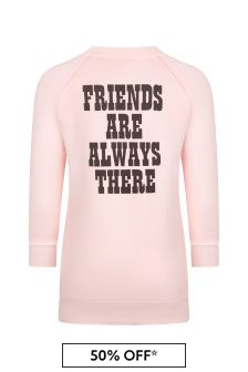 Girls Pink Cotton Snoopy Dress