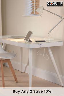 Tori White Smart Desk By Koble