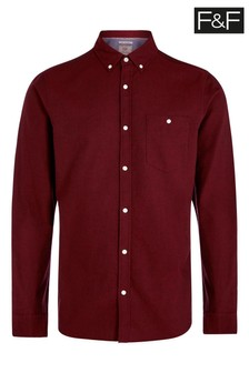 F&F Burgundy Wine Oxford Shirt