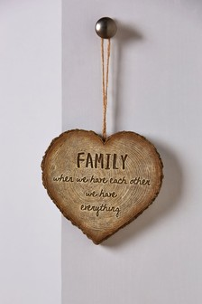 Heart Shaped Family Slogan Hanging Decoration