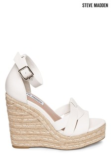 Steve Madden Tan Leather Wedges