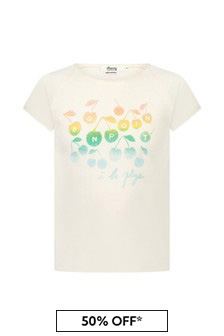 Bonpoint Girls Cream Cotton T-Shirt