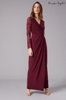Phase Eight Red Elanor Lace Bridesmaid Maxi Dress