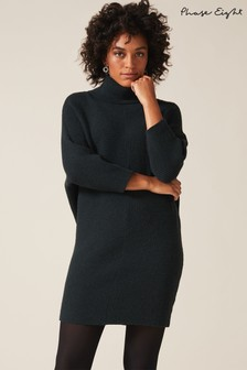 Phase Eight Green Catheline Cowl Soft Touch Dress