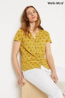 White Stuff Yellow Willow Jersey Shirt