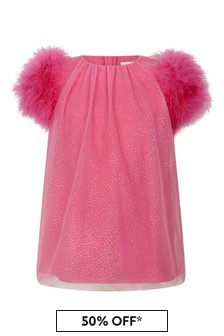Girls Fuchsia Tulle Dress
