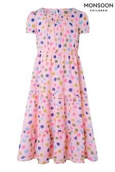 Monsoon Natural Naomi Splodge Dress