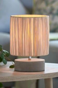 Natural Raffia Table Lamp