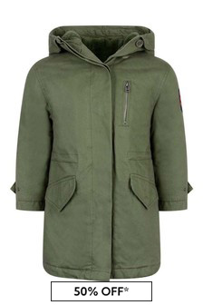 Girls Khaki Hooded Parka