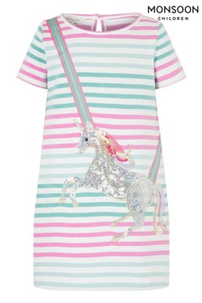 Monsoon Natural Blake Unicorn Sweat Dress