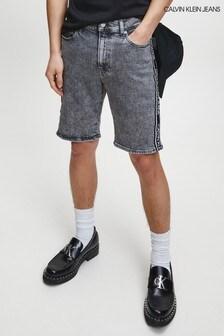 Calvin Klein Grey Denim Slim Shorts