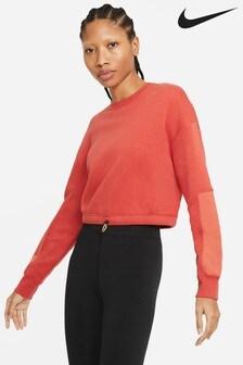 Nike Sportswear Red Fleece Sweat Top