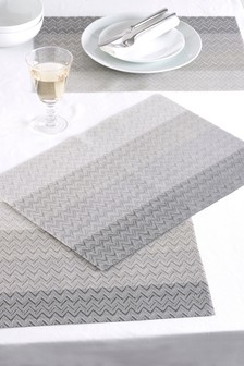 Set of 4 Woven Stripe Placemats