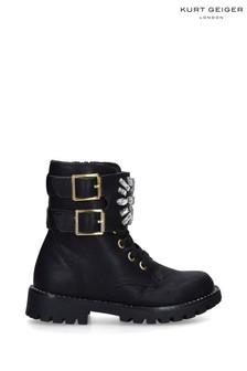 Kurt Geiger London Black Mini Stoop Boots
