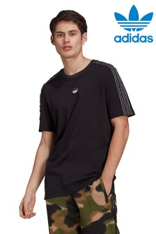 adidas Originals Black Spirit 3 Stripe T-Shirt