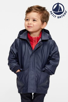 Petit Bateau Navy Iconic Waxed Babies Raincoat
