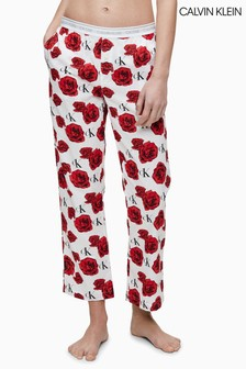 Calvin Klein Pyjamahose, weiß