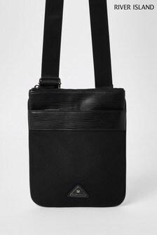River Island Black Triangle Flight Bag