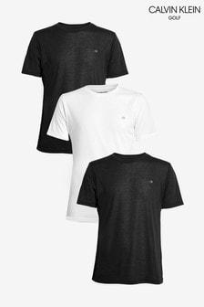 Calvin Klein Golf Black T-Shirts Three Pack