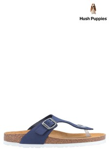 Hush Puppies Blue Kayla Slip-On Sandals