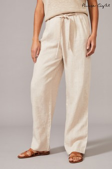Phase Eight Neutral Conrad Linen Trousers
