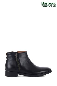 Barbour® Black Emma Ankle Zip Boots