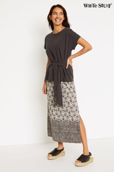 White Stuff Grey Warli Jersey Maxi Skirt