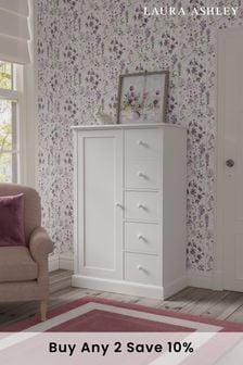 Ashwell Cotton White 2 Door 3 Drawer Wardrobe by Laura Ashley