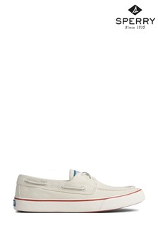 Sperry White Bahama II Lace-Up Trainers