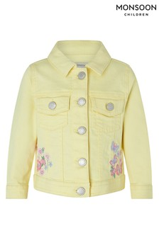Monsoon Yellow Baby Yuki Denim Jacket