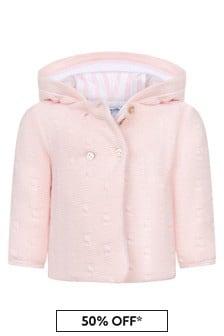 Tartine et Chocolat Pink Hooded Cardigan