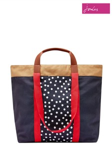Joules Yellow Zoe Canvas Tote Bags