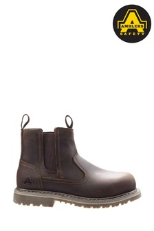 Amblers Safety Brown AS101 Alice Slip-On Safety Boots