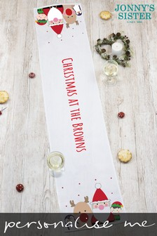 Personalised Christmas Table Runner by Jonnys Sister