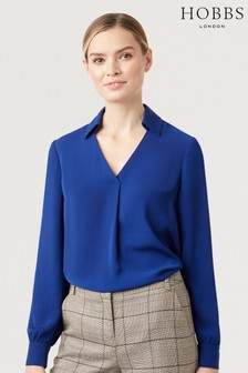 Hobbs Blue Philippa Blouse