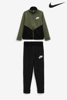 Nike Khaki Poly Tracksuit