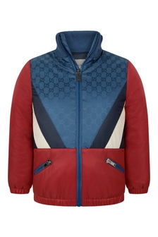 Boys Red/Blue GG Windbreaker Jacket