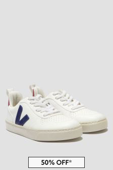 Veja Unisex White Vegan Leather Trainers